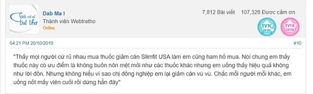 Review vien giam can slimfit usa